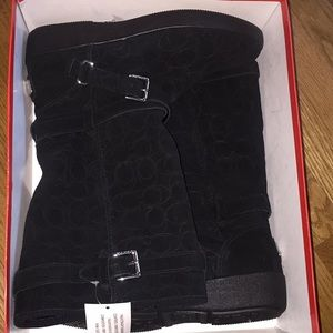NWT and box Coach Thelma black boots